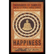 """Diamond Decor """"Thousands of Candles"""" Framed Poster"""