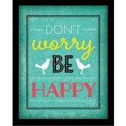 "Diamond Decor ""Don't Worry Be Happy "" Framed Art Print Poster"