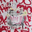 Diamond Decor in.Sieze The Cupcakein. Stretched Giclee Canvas Art