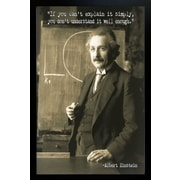 Diamond Decor Albert Einstein Giclee Framed Art Print Poster
