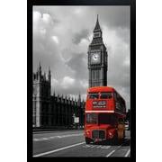 Diamond Decor London - Red Bus Framed Poster