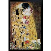 """Diamond Decor """"Klimt The Kiss """" Framed Poster"""