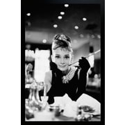 "Diamond Decor ""Audrey Hepburn Movie Icon Breakfast"" Framed Poster"
