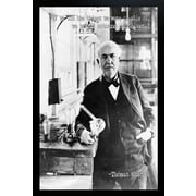 Diamond Decor Thomas Edison Giclee Framed Art Print Poster