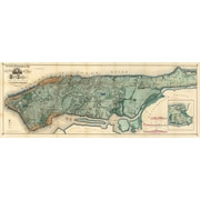 "Diamond Decor ""1865 NYC Map "" Stretched Giclee Canvas Art"