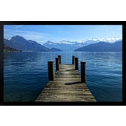 Diamond Decor Lake Luzern Giclee Framed Art Print Poster