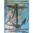 Diamond Decor in.Anchored in. Stretched Giclee Canvas Art