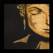 "Diamond Decor ""Zen Buddha"" Framed Art Print Poster"
