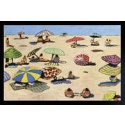 "Diamond Decor ""Beach Day"" Framed Art Print Poster"