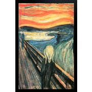Diamond Decor The Scream Framed Art Print Poster
