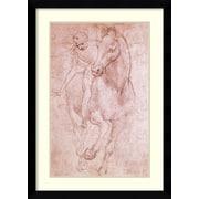 Amanti Art 'Horse & Rider' by Leonardo da Vinci Framed Art Print
