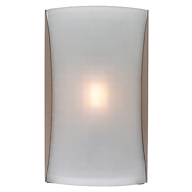 Access Lighting Radon 1 Light Wall Sconce; Checkered Frosted
