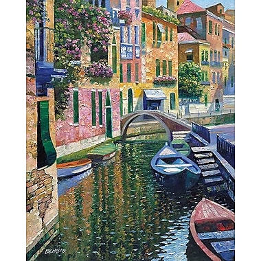 Printfinders Romantic Canal by Howard Behrens Painting Print on Canvas; 40'' x 32''