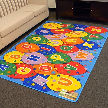 DonnieAnn Company Paradise Alphabets Balloon Indoor Area Rug