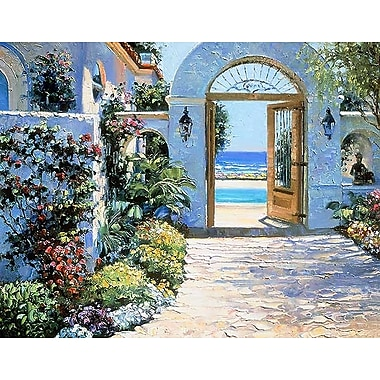 Printfinders Hotel California by Howard Behrens Painting Print on Canvas; 28'' x 36''