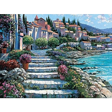 Printfinders Steps of St. Tropez by Howard Behrens Painting Print on Canvas; 18'' x 24''