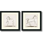 Amanti Art 'Horses' by Tom Reeves 2 Piece Framed Art Print Set