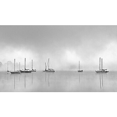 Printfinders Hoist the Sails by Nicholas Bell Painting Print on Canvas; 24'' x 42''