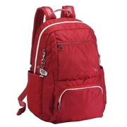 Sumdex Soft Casual Tech-On Campus Backpack; Aurora Red