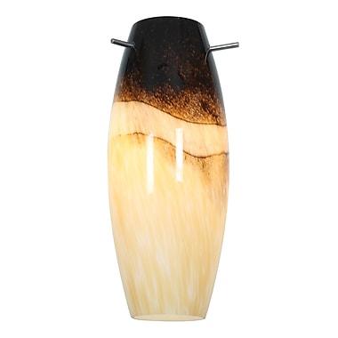 Access Lighting 4.9'' Cabernet Glass Oval Pendant Shade; Sand Slate