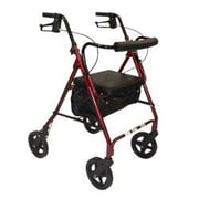 Roscoe Medical Z800 Rollator with Padded Seat; Burgundy
