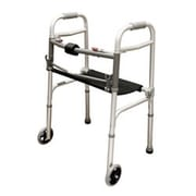 Roscoe Medical 2 Button Walker with Roll-Up Seat