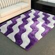 DonnieAnn Company Shaggy Purple Abstract 2-Tone Wavy Rug