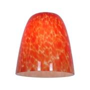 Access Lighting 4'' Elegant'e Glass Bell Pendant Shade; Red