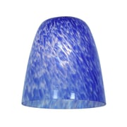Access Lighting 4'' Elegant'e Glass Bell Pendant Shade; Cobalt