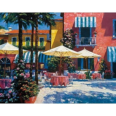 Printfinders Inn at Lake Garda by Howard Behrens Painting Print on Canvas; 22'' x 28''