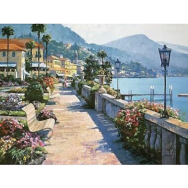 Printfinders Bellagio Promenade by Howard Behrens Painting Print on Canvas; 18'' x 24''