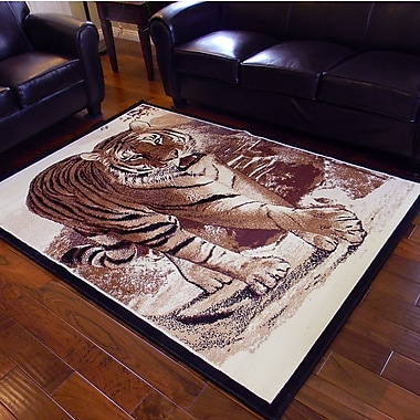 DonnieAnn Company African Adventure Berber Tiger Walking Area Rug