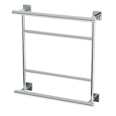 Gatco Elevate Hotel Wall Mounted Towel Rack; Chrome