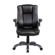 Techni Mobili Mid-Back Manager Office Chair with Flip-up Arms