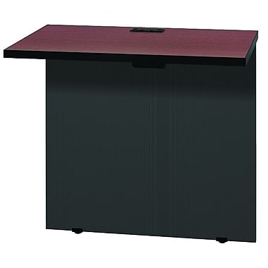 Ironwood Modular 28.38'' H x 31'' W Desk Return; Black Granite / Black