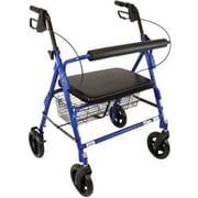 Roscoe Medical Bariatric Rollator; Blue