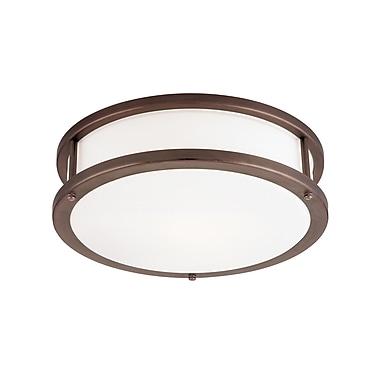 Access Lighting Conga 3 Light Outdoor Flush Mount; Bronze