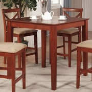 East West Counter Height Pub Table; Rich Brown