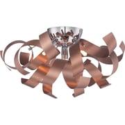 Quoizel Ribbons Flush Mount; Satin Copper