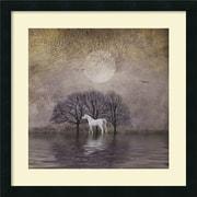 Amanti Art 'White Horse in Pond' by Dawne Polis Framed Art Print
