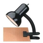 Lite Source Clip-On 12'' H Table Lamp; Black