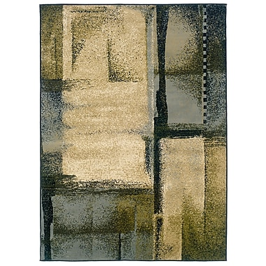 StyleHaven Abstract Beige/ Blue Indoor Machine-made Polypropylene Area Rug (7'10