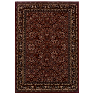 StyleHaven Oriental Red/ Black Indoor Machine-made Polypropylene Area Rug (6'7