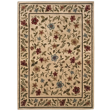 StyleHaven Floral Ivory/ Beige Indoor Machine-made Polypropylene Area Rug (3'3