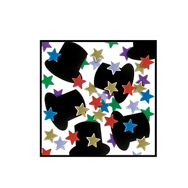 Fanci-Fetti Top Hats & Mini Stars, Multi-Colour, 5/Pack
