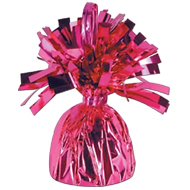 Metallic Wrapped Balloon Weight, Each Photo/Balloon Weight Weighs 6 Ounces, Cerise, 14/Pack