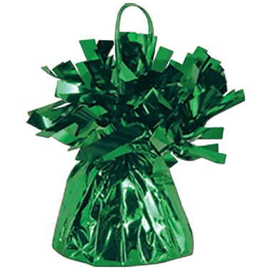 Metallic Wrapped Balloon Weight, Each Photo/Balloon Weight Weighs 6 Ounces, Green, 14/Pack