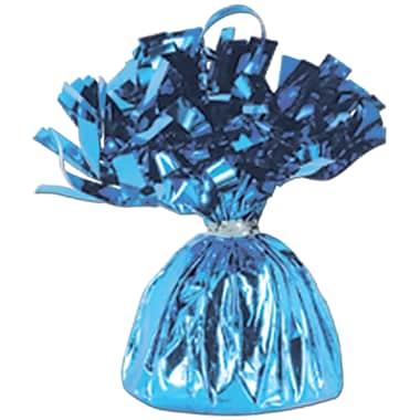 Poids enveloppé métallisé pour ballon, chaque poids pour photo/ballon pèse 6 oz, bleu pâle, 14/paquet