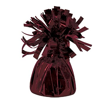 Metallic Wrapped Balloon Weight, Each Photo/Balloon Weight Weighs 6 Ounces, Maroon, 14/Pack
