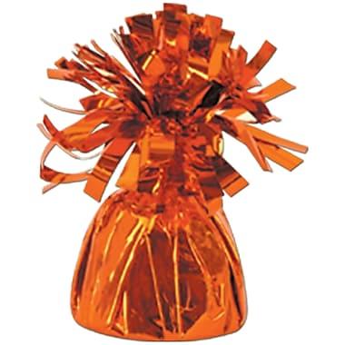 Poids enveloppé métallisé pour ballon, chaque poids pour photo/ballon pèse 6 oz, orange, 14/paquet